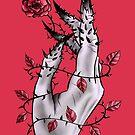 Creepy Deformed Hand With Rose And Thorns | Digital Art by Boriana Giormova