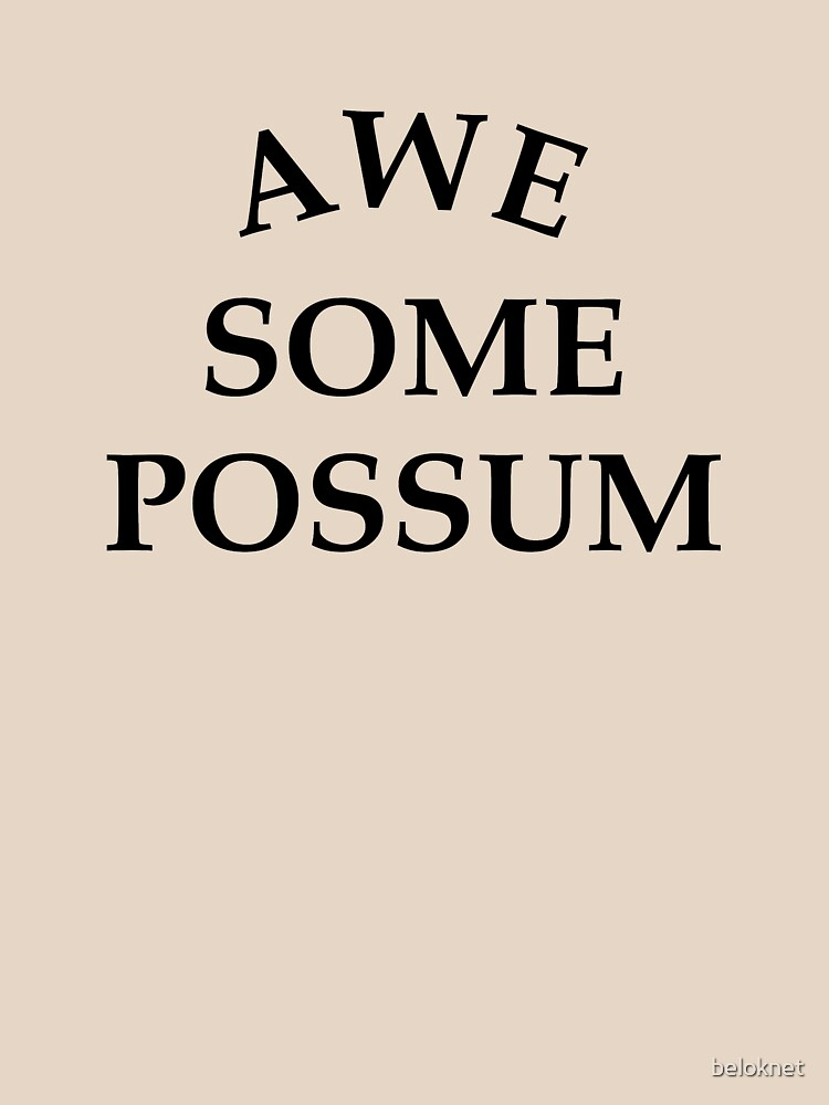 Awesome Possum  by beloknet