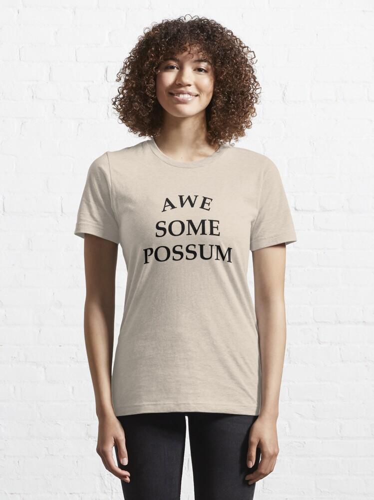 Alternate view of Awesome Possum  Essential T-Shirt