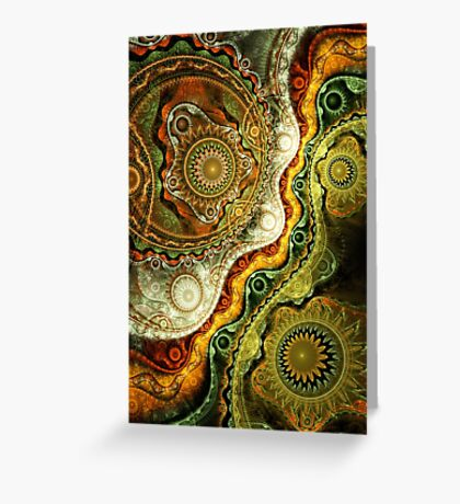 Autumn - Abstract Fractal Artwork Greeting Card