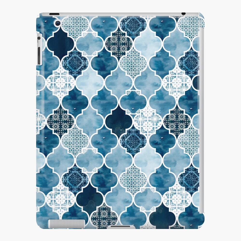 Moroccan trellis in midnight blue iPad Case & Skin