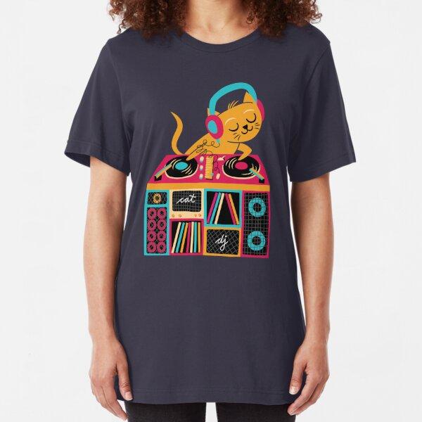 DJ Katze Slim Fit T-Shirt