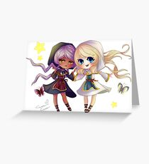 Children of Lunares - Yuelia and Noelia Greeting Card