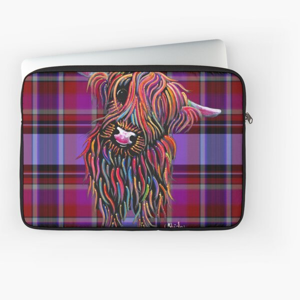 SCoTTiSH HiGHLaND CoW ' TaRTaN BoLLY P ' BY SHiRLeY MacARTHuR Laptop Sleeve