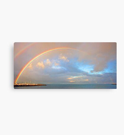 Rainbow Over Fremantle Harbour  Canvas Print