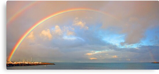 Rainbow Over Fremantle Harbour  by EOS20