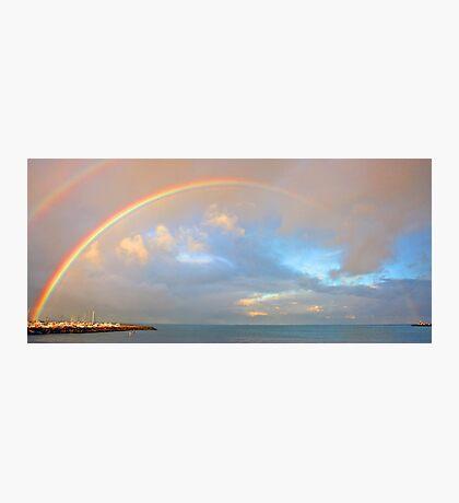 Rainbow Over Fremantle Harbour  Photographic Print