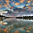 Sunrise on the Murray by Dave  Hartley