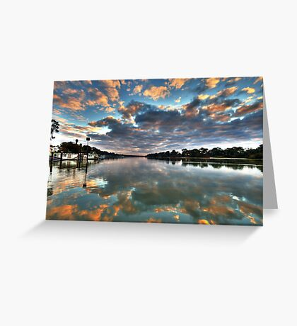 Sunrise on the Murray Greeting Card