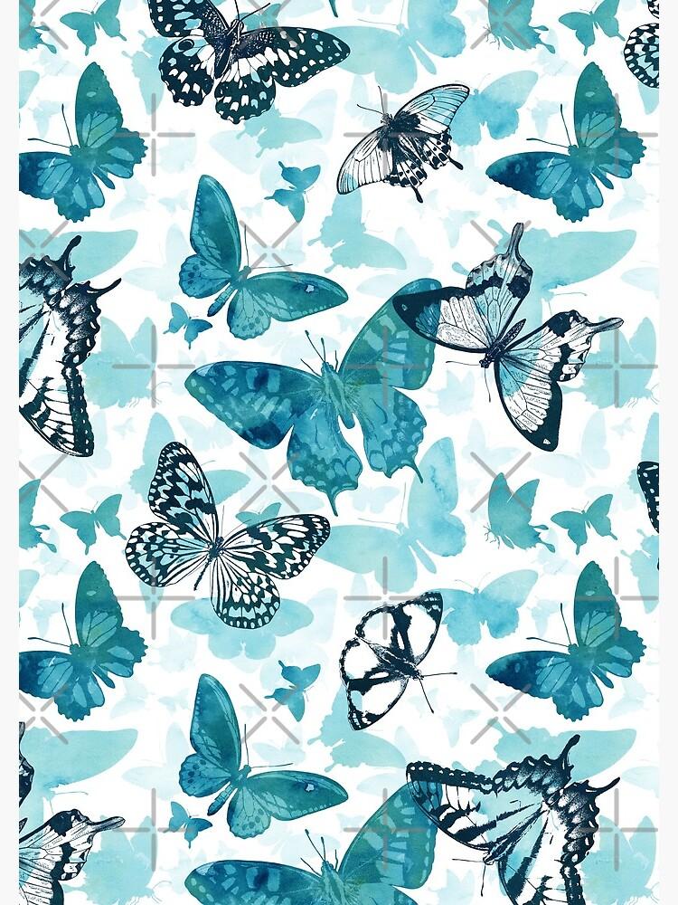 Butterfly glow in turquoise blue by adenaJ