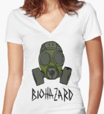 BIOHAZARD Women's Fitted V-Neck T-Shirt