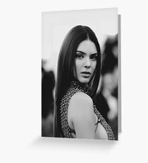 Kendall Jenner Greeting Card