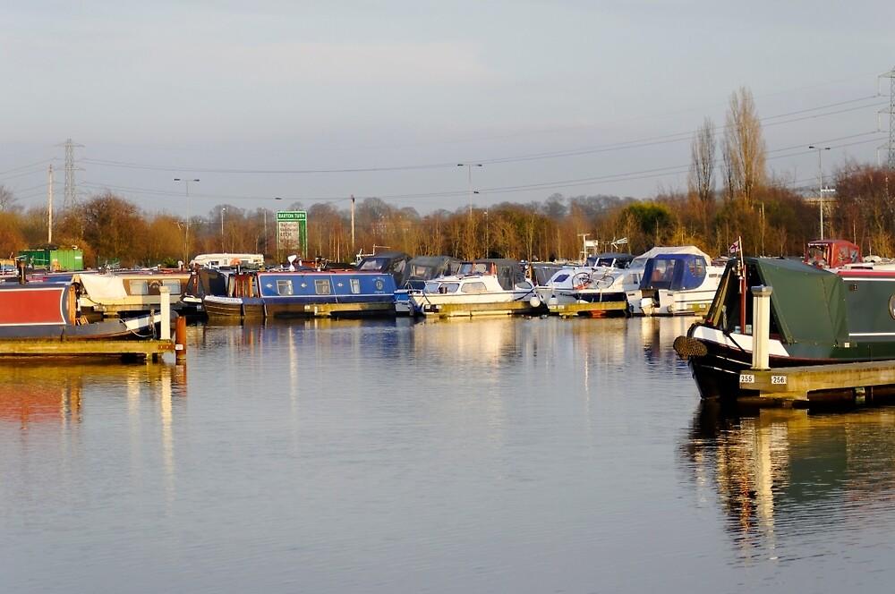 Various Boats at Barton Marina  by Rod Johnson