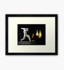 Sports mad in the City of Churches Framed Print