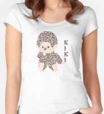 Monchhichi, the Stuffed Toy Monkey Women's Fitted Scoop T-Shirt