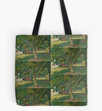 Pretty Trees In A Parking Lot Tote Bag