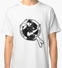Follow the white rabbit - White with black outline on any base Classic T-Shirt