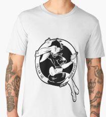 Follow the white rabbit - White with black outline on any base Men's Premium T-Shirt