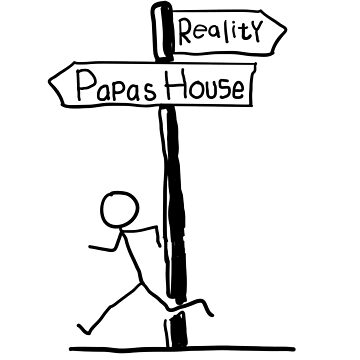 "Funny ""Papa's House"" Signpost Themed Design by EireShirts"