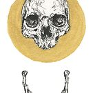 Gold Circle Skull and Jaw by MissMeowington