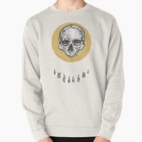 Gold Circle Teeth and Skull Pullover Sweatshirt