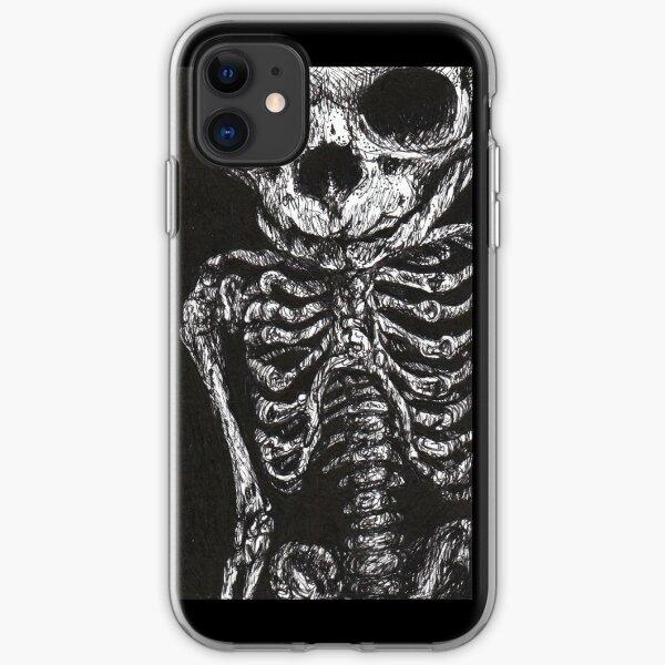 Leaning Skeleton  iPhone Soft Case