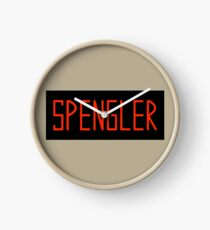 Egon Spengler Name Tag Clock