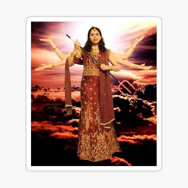 Goddess Durga Sticker