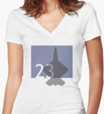 LOGO2301 Women's Fitted V-Neck T-Shirt
