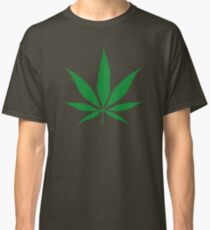 cannabis weed leaf Classic T-Shirt
