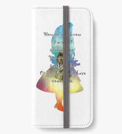 Wonderland - Alice In Wonderland Quote Funda tarjetero para iPhone