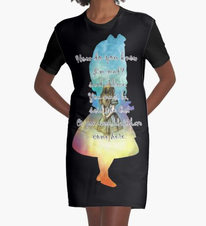 Wonderland - Alice In Wonderland Quote Vestido camiseta