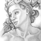 Ignudi sketch series. After Michael Angelo. Sistine Chapel. by terezadelpilar ~ art & architecture