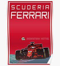 Scuderia Ferrari - Sebastian Vettel Poster