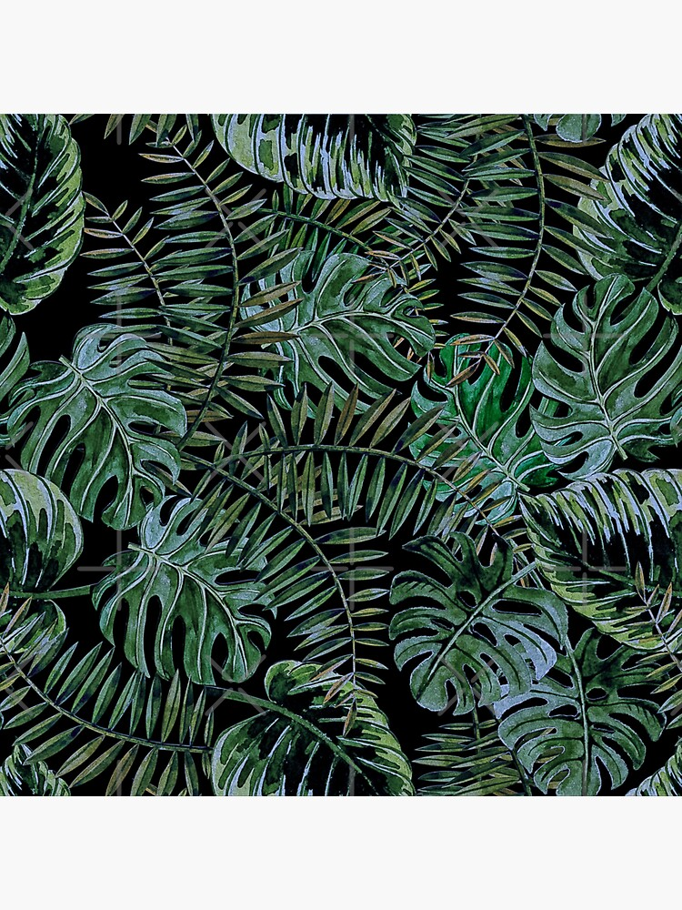 Monstera Jungle at Night by UtArt