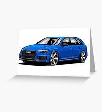 Audi RS4 Hatchback Greeting Card