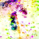 Organized Chaos Colorful Abstract Paint Splatter  by Shelli Fitzpatrick