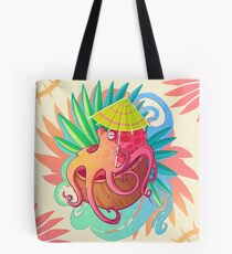 Octopus on the Beach Tote Bag
