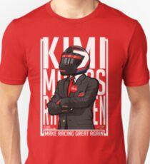 Red, White & Bwoah: Kimi Raikkonen for President Unisex T-Shirt