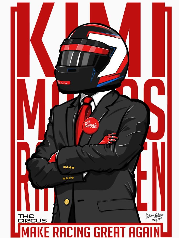Rot, Weiß & Bwoah: Kimi Räikkönen für den Präsidenten von TheCircus