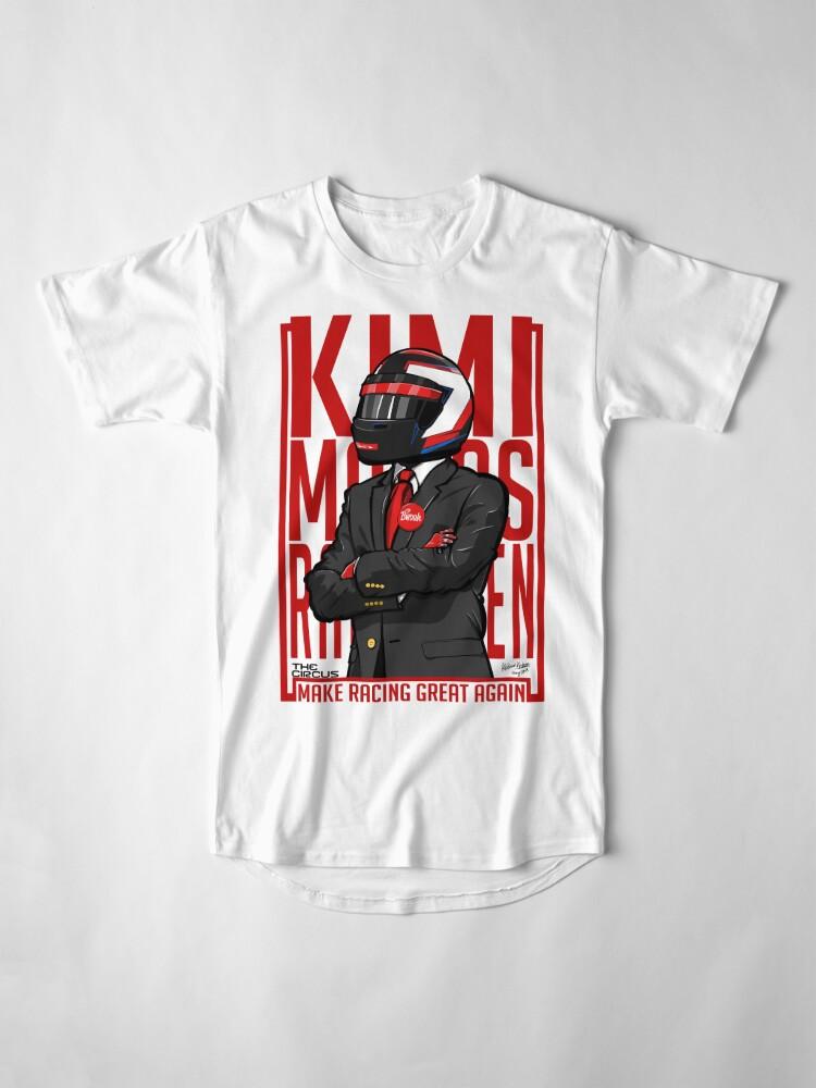 Alternative Ansicht von Rot, Weiß & Bwoah: Kimi Räikkönen für den Präsidenten Longshirt