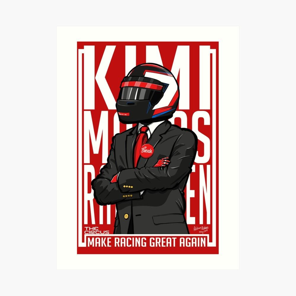 Rot, Weiß & Bwoah: Kimi Räikkönen für den Präsidenten Kunstdruck