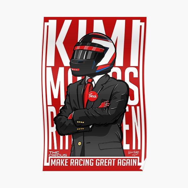 Red, White & Bwoah: Kimi Raikkonen for President Poster