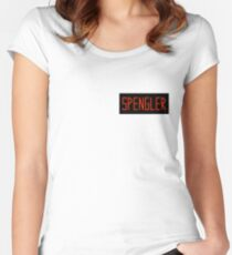 Egon Spengler Name Tag Women's Fitted Scoop T-Shirt