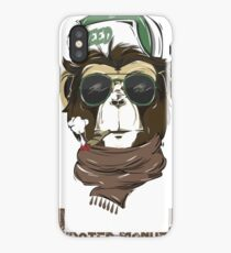 HIPSTER MONKEY design  iPhone Case