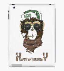 HIPSTER MONKEY design  iPad Case/Skin