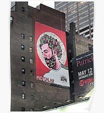 Times square New York Mo Salah Poster
