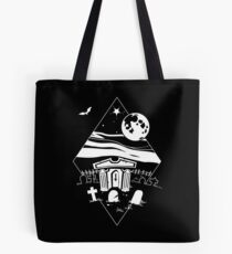 Spooky Mausoleum under the Full Moon Tote Bag