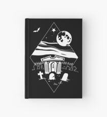 Spooky Mausoleum under the Full Moon Hardcover Journal