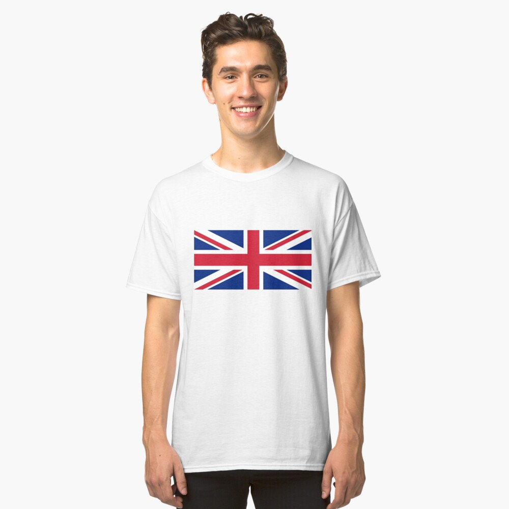 Union Jack Flag Classic T-Shirt Front